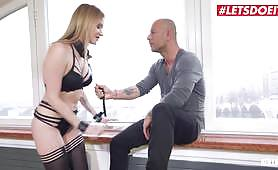 Czech blonde Angel Piaff gets fucked in all her holes