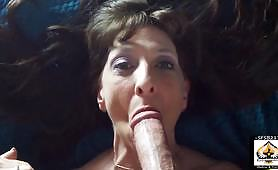 Petite granny deals with a big dick - pussy to mouth POV video
