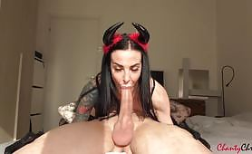 Beautiful wet blowjob with oral creampie from this hot devil with ChantyChrys