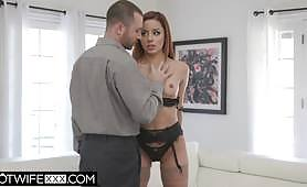 Handcuffs on the MILF - Vanna Bardot tied and fucked by James Deen